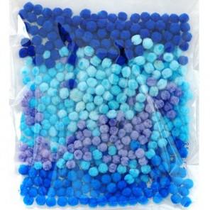 Оттенки синего (5цветов) Помпоны декоративные 5мм