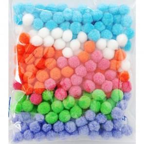 Цветочный микс (6цветов) Помпоны декоративные 15мм