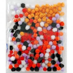 Солнечный блеск (6цветов) Помпоны 10мм декоративные с блестящими нитями для поделок и детского творчества
