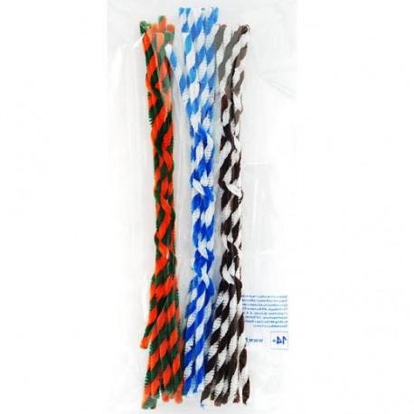 Спираль (3цвета) Синельная пушистая проволока (шенил) для поделок и детского творчества