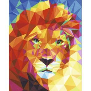 Портрет льва Раскраска картина по номерам акриловыми красками Schipper (Германия)