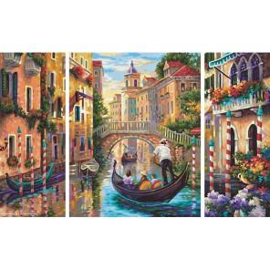 Венеция - город в Лагуне Триптих Раскраска по номерам акриловыми красками Schipper (Германия)