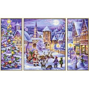Рождество Триптих Раскраска по номерам акриловыми красками Schipper (Германия)