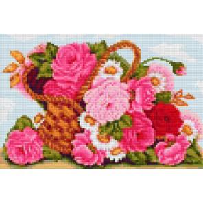 Корзинка роз Алмазная мозаика на твердой основе Iteso