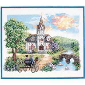 Деревенская церковь 03227 Набор для вышивания Dimensions ( Дименшенс )