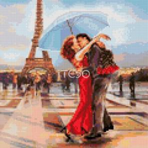 Свидание в Париже Алмазная мозаика на твердой основе Iteso