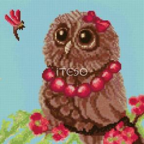 Совёнок летом Алмазная мозаика на твердой основе Iteso