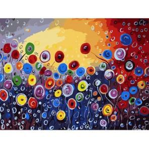 Цветочная абстракция Раскраска картина по номерам акриловыми красками на холсте Molly