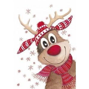 Рождественский олень Алмазная вышивка мозаика Гранни