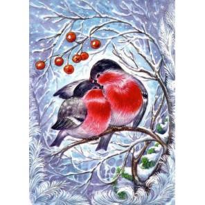 Снегири Алмазная мозаика вышивка Гранни