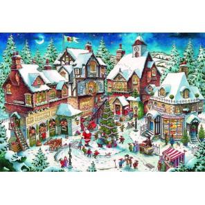 Новогодняя суета Алмазная мозаика вышивка Гранни