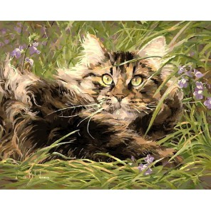 В мире кошек Раскраска картина по номерам акриловыми красками на холсте Menglei