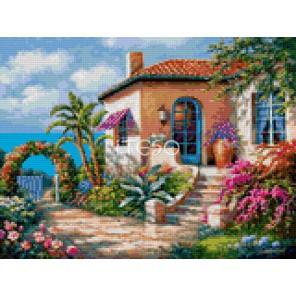 Вилла у моря Алмазная мозаика на твердой основе Iteso