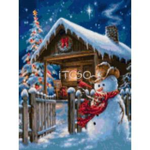 Новогодняя ночь Алмазная мозаика на твердой основе Iteso