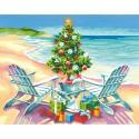 Рождество на пляже Раскраска картина по номерам Dimensions