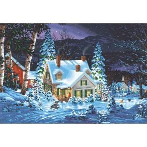 Зимняя тишина Раскраска картина по номерам акриловыми красками Dimensions