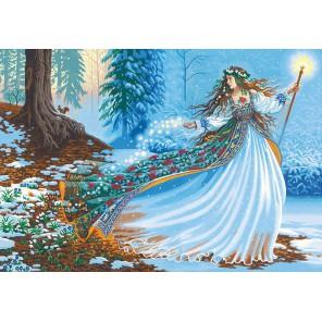 Лесная чародейка Раскраска картина по номерам акриловыми красками Dimensions
