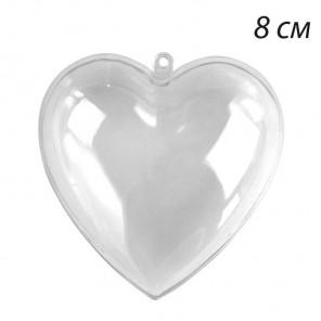 Сердце 8см разъемное Фигурка из пластика для декорирования