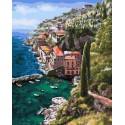 Альпийский городок Раскраска картина по номерам акриловыми красками на холсте