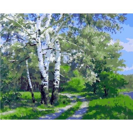 По проселочной дороге Раскраска картина по номерам акриловыми красками на холсте