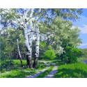 По проселочной дороге Раскраска картина по номерам на холсте