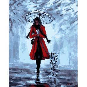Прогулка с далматинцем Раскраска картина по номерам акриловыми красками на холсте