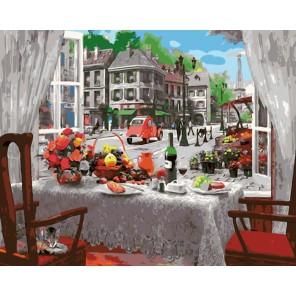 Бизнес ланч в Париже Раскраска картина по номерам акриловыми красками на холсте