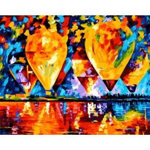 Воздушные шары Раскраска картина по номерам акриловыми красками на холсте