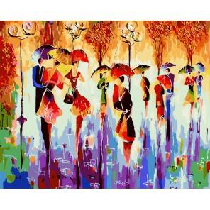 Разноцветный сентябрь Раскраска картина по номерам акриловыми красками на холсте