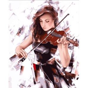 Мелодия скрипки Раскраска картина по номерам акриловыми красками на холсте