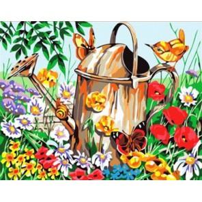 Лейка в саду Раскраска картина по номерам акриловыми красками на холсте
