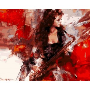 Музыка страсти Раскраска картина по номерам акриловыми красками на холсте