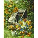 Деревенский пейзаж Раскраска картина по номерам акриловыми красками на холсте
