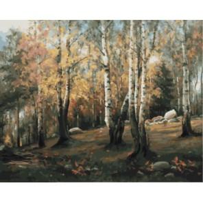 Осенний лес Раскраска картина по номерам акриловыми красками на холсте
