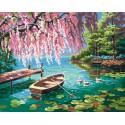Дивный пруд Раскраска картина по номерам на холсте