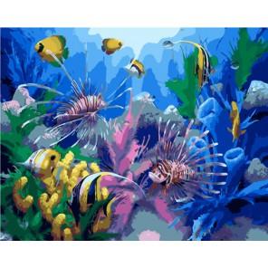 Подводный мир Раскраска картина по номерам акриловыми красками на холсте