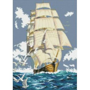 Парусник Алмазная мозаика на подрамнике Цветной
