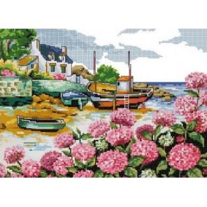 Приморский пейзаж Алмазная мозаика на подрамнике Цветной