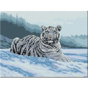 В снегу Алмазная мозаика вышивка на подрамнике Molly