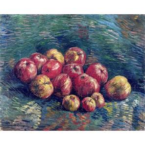 Натюрморт с яблоками (репродукция Ван Гога)  Раскраска картина по номерам акриловыми красками на холсте Molly