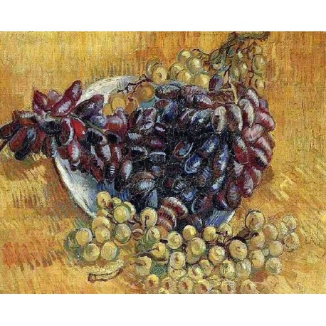 Натюрморт с виноградом (репродукция Ван Гога) Раскраска картина по номерам акриловыми красками на холсте Molly