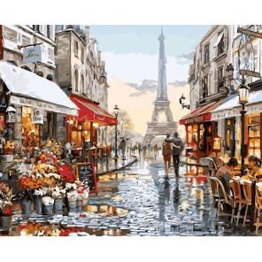 Окно в Париж Раскраска картина по номерам акриловыми красками на холсте Molly