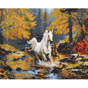 Осенний марафон Раскраска картина по номерам акриловыми красками на холсте Molly