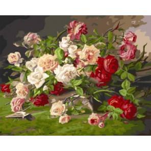 Королевские розы Раскраска картина по номерам акриловыми красками на холсте