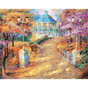 Прогулка по парку Раскраска картина по номерам акриловыми красками на холсте