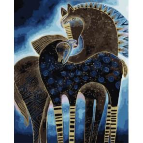 Сказочные лошади Раскраска картина по номерам акриловыми красками на холсте