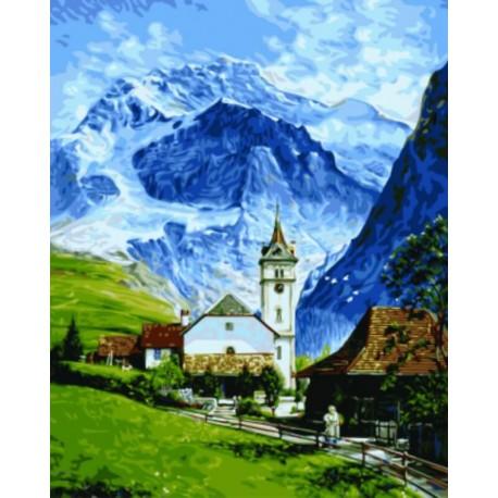 Гриндельвальд Раскраска картина по номерам на холсте