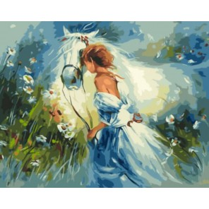 Наездница Раскраска картина по номерам акриловыми красками на холсте