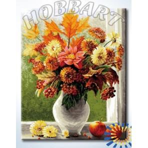 Осенний букет Раскраска картина по номерам акриловыми красками на холсте Hobbart