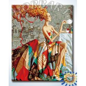 Чаепитие Раскраска картина по номерам акриловыми красками на холсте Hobbart